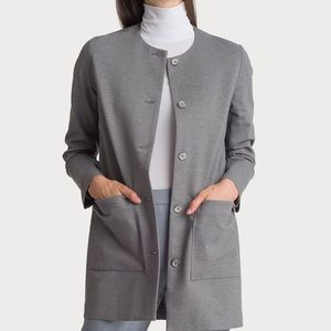 Kit & Ace Collarless Stretch Jacket Heather Gray